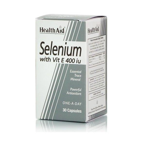 Selenium with Vit. E Health Aid 30 Caps