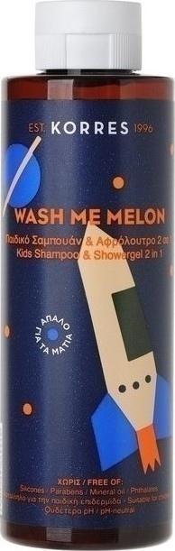 Korres Wash Me Melon Παιδικό Σαμπουάν & Αφρόλουτρο