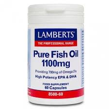 Lamberts Pure Fish Oil 1100mg 60caps