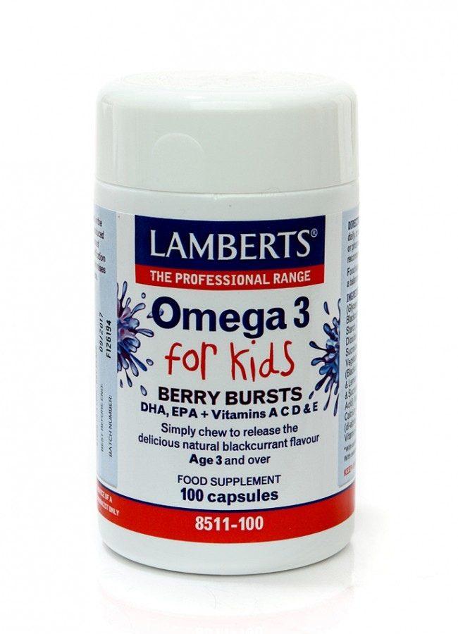 Omega 3 For Kids Lamberts 100caps(για παιδιά)