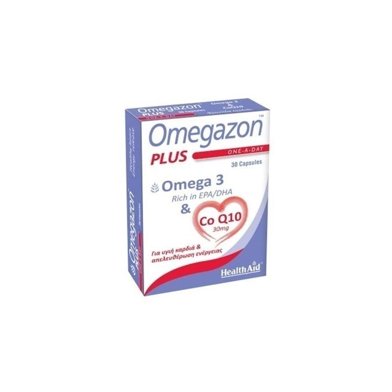 Health Aid Omegazon PLUS (Ω3 & CoQ10) 60 caps