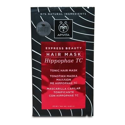 Apivita Express Beauty Hair Mask Hippophae TC Τονωτική Μάσκα Μαλλιών 20ml