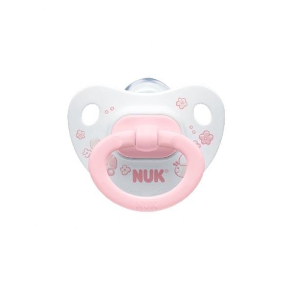 Nuk Trendline Baby Rose Σιλικόνης με Κρίκο 6-18m 1τμχ