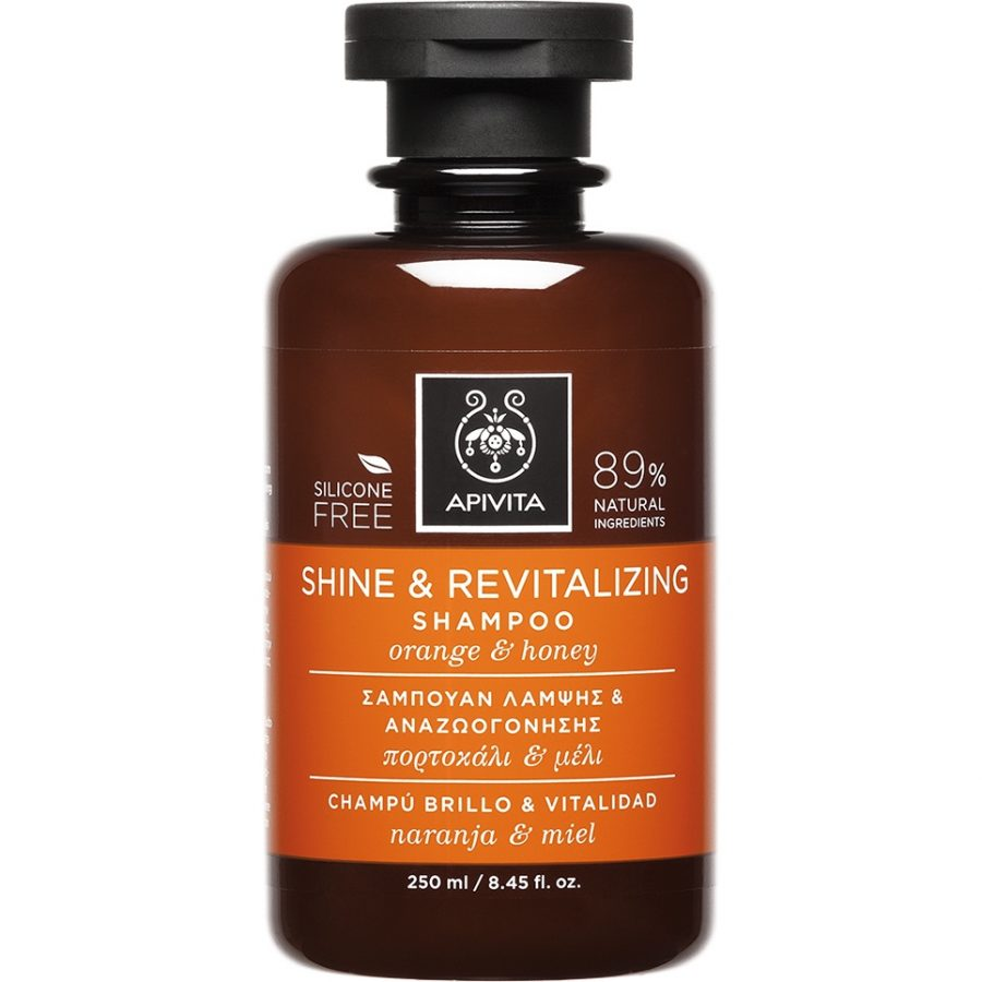 APIVITA Shine and Revitalizing - Σαμπουάν Λάμψης & Αναζωογόνησης Με Πορτοκάλι & Μέλι 250ml