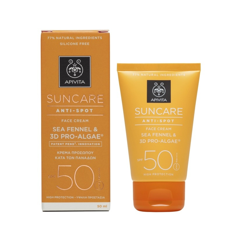 Apivita Suncare Anti-Spot Face Cream Sea Fennel & 3D Pro-Algae SPF50 Κατά των Πανάδων 50ml