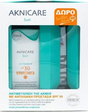Synchroline Aknicare Sun SPF30 50ml & ΔΩΡΟ Selfie Stick