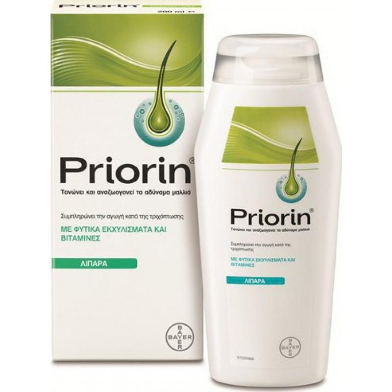 Priorin Σαμπουάν Κατά της Τριχόπτωσης για Λιπαρά/Αδύναμα Μαλλιά 200m