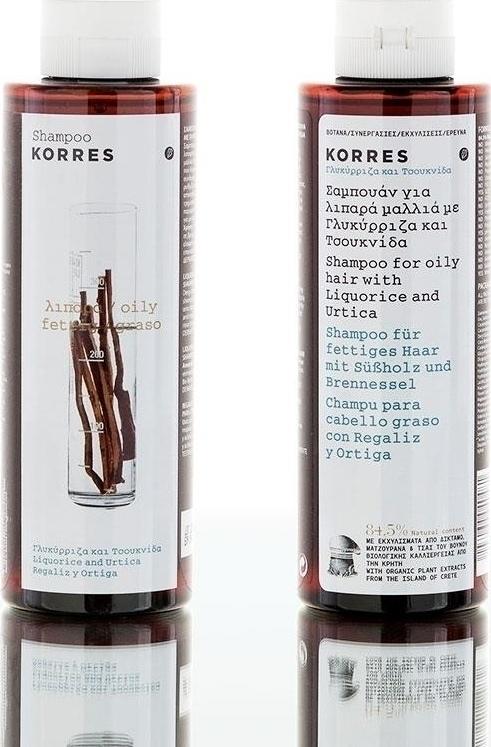 Korres Σαμπουάν Για Λιπαρά Μαλλιά Με Γλυκύρριζα & Τσουκνίδα 2x250ml