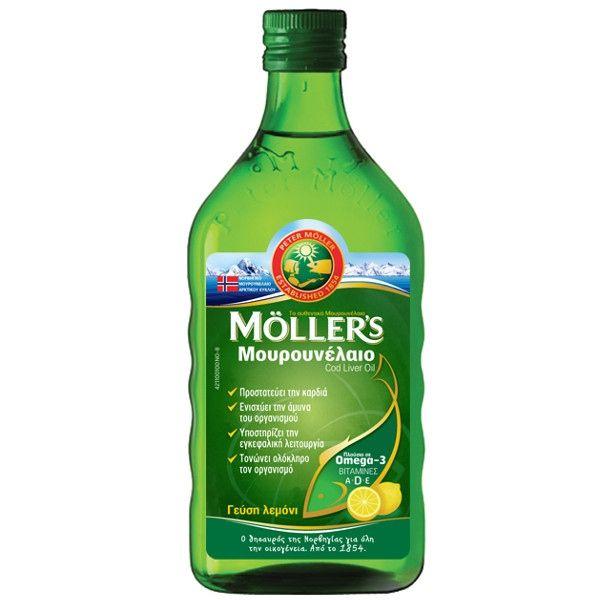 Mollers Μουρουνέλαιο Πλούσιο σε Omega 3 με Γεύση Λεμόνι 250ml