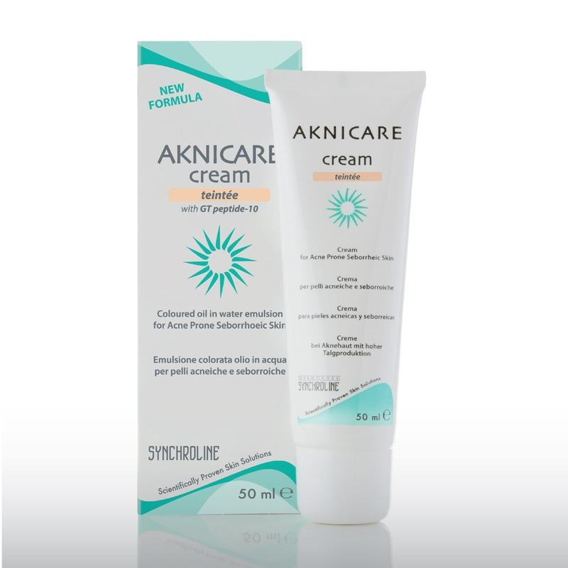 Synchroline Aknicare Cream Teintee Clair Κρέμα Προσώπου Με Χρώμα 50ml
