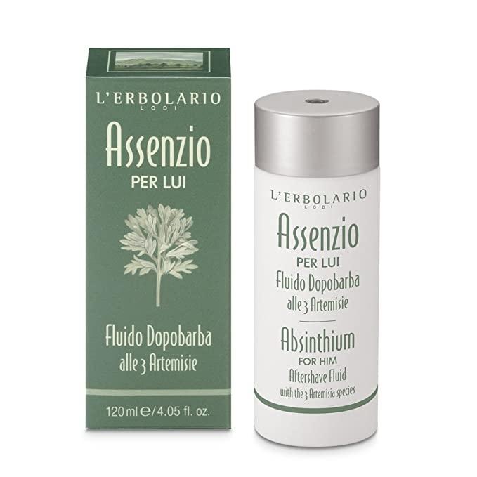 L' Erbolario Absinthium Aftershave Fluid With 3 Artemisia Species 120ml