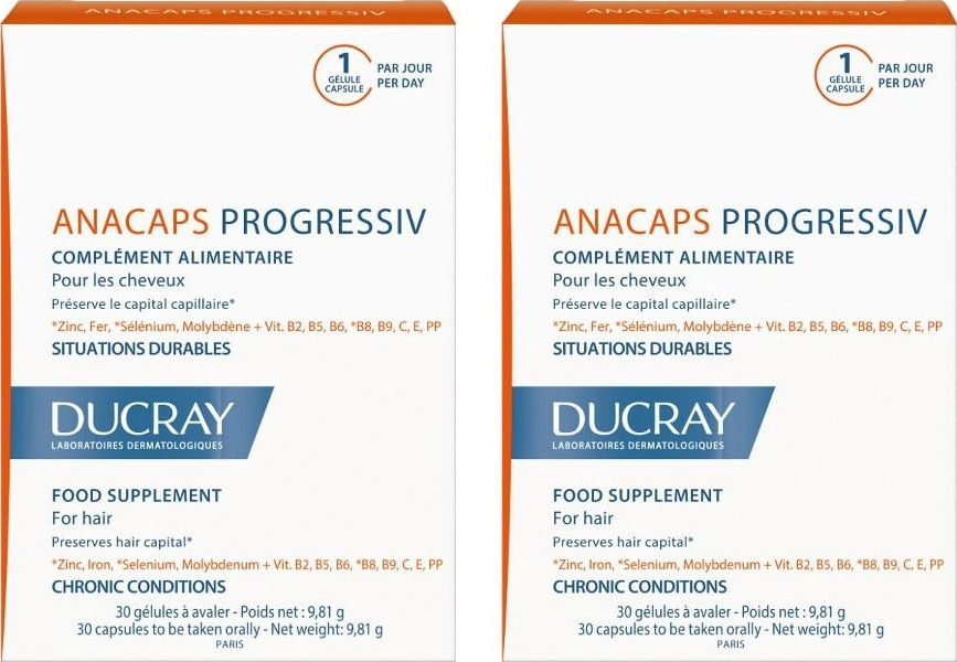 Ducray Anacaps Progressiv 2 x 30 κάψουλες