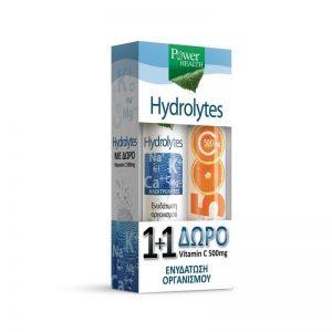 Power Health Hydrolytes 20Tabs & ΔΩΡΟ Vitamin C 500mg 20Tabs