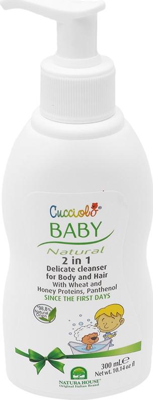 BABY CUCCIOLO 2 Σε 1 Απαλό Καθαριστικό Σώμα & Μαλλιά 300ml