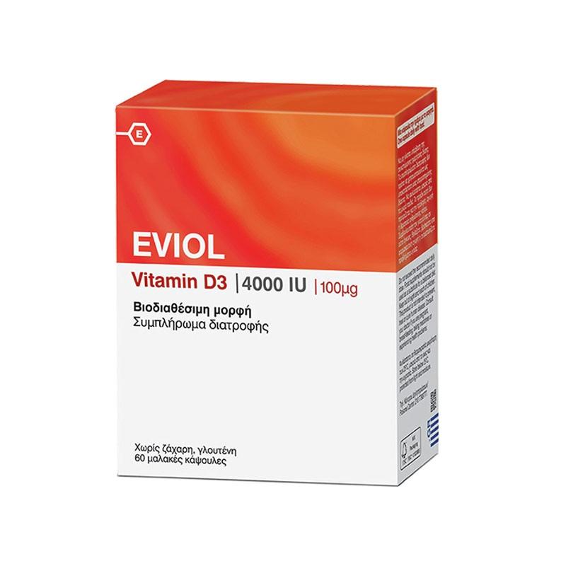 Eviol Vitamin D3 4000iu 60 soft caps