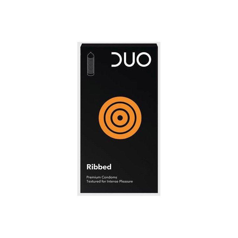 Duo Ribbed Προφυλακτικά (με Ραβδώσεις) 6τεμ