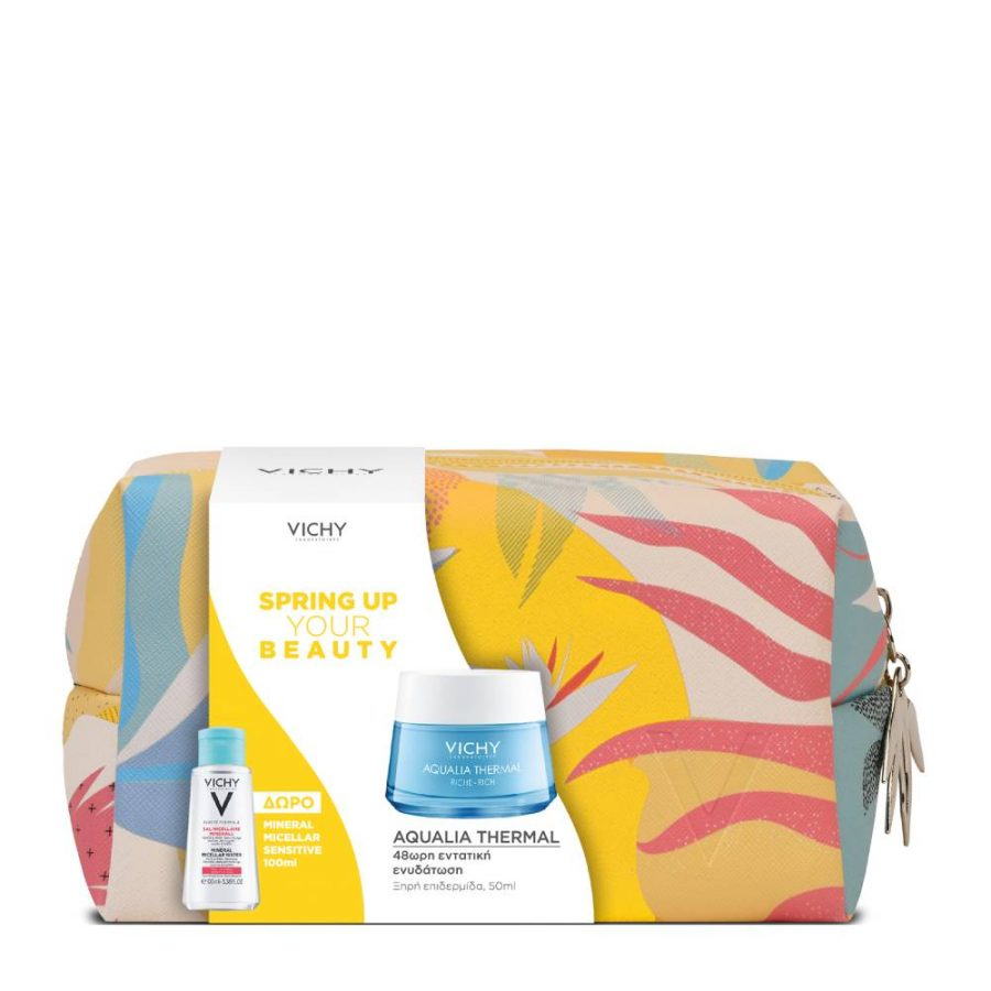 Vichy Set Spring Up Your Beauty Aqualia Thermal Rich 50ml & ΔΩΡΟ Mineral Micellar Sensitive 100ml & Νεσεσέρ