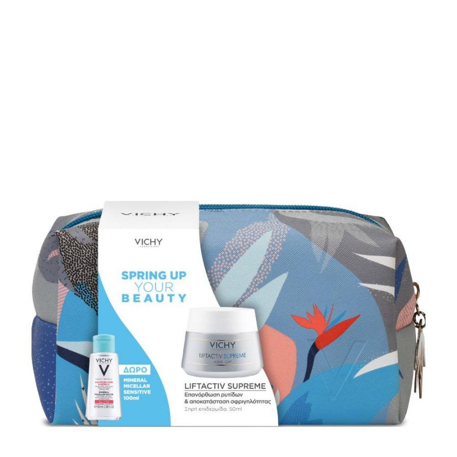 Vichy Set Spring Up Your Beauty Liftactiv Supreme για Ξηρή Επιδερμίδα 50ml & ΔΩΡΟ Mineral Micellar Sensitive 100ml & Νεσεσέρ
