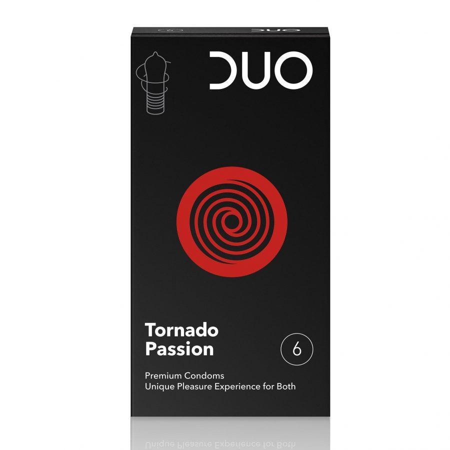 DUO Tornado Passion Προφυλακτικά 6 τεμάχια