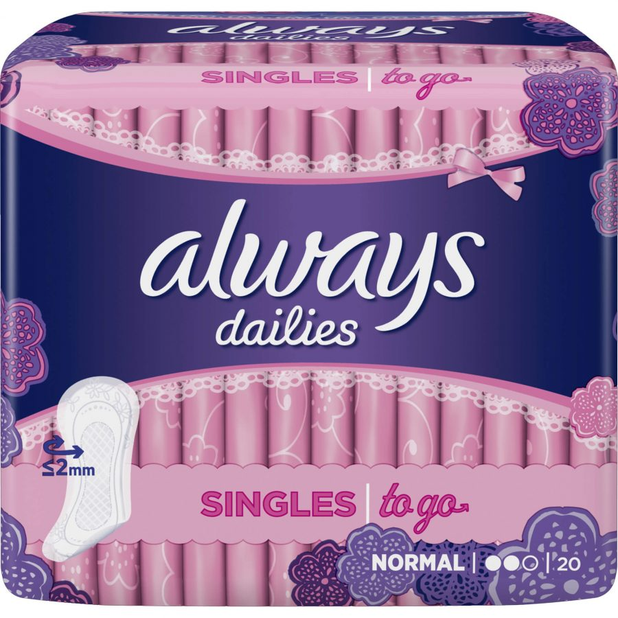 Always Σερβιετάκια Normal Singles to go 20τμχ