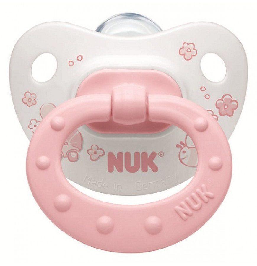 Nuk Baby Rose & Blue Πιπίλα Σιλικόνης Νο1 (0-6Μηνών), χρώμα ροζ