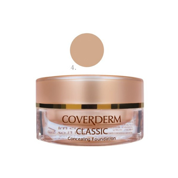Coverderm Classic Concealing Foundation SPF30 no.4 , 15ml