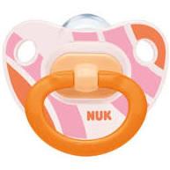 Nuk Happy Days Πιπίλα Σιλικόνη (6-18 Μηνών) Διάφανη-Πορτοκαλί 1τμχ