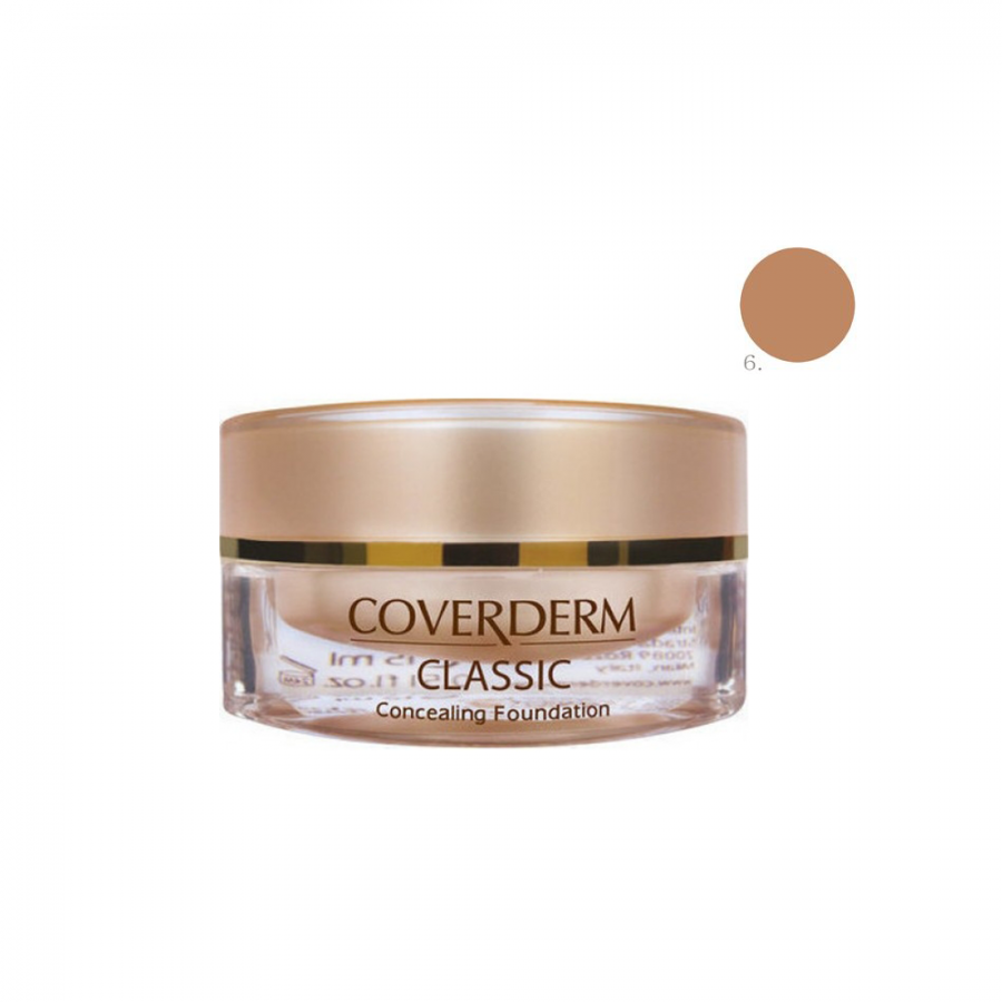 Coverderm Classic Concealing Foundation SPF30 no.6 15ml