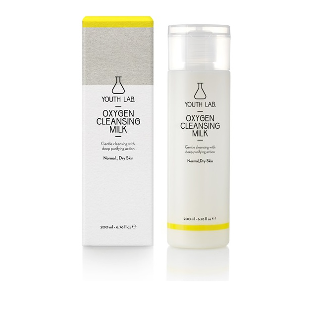 Youth Lab Oxygen Cleansing Milk Normal/Dry Skin Γαλάκτωμα Καθαρισμού Κανονικές/Ξηρές 200ml