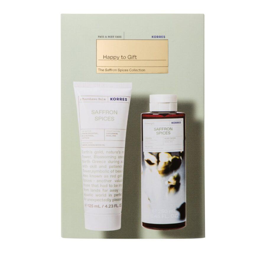 Korres Promo Saffron Spices - Αφρόλουτρο Saffron Spices 250ml & Γαλάκτωμα Για Μετά Το Ξυρισμα 125ml