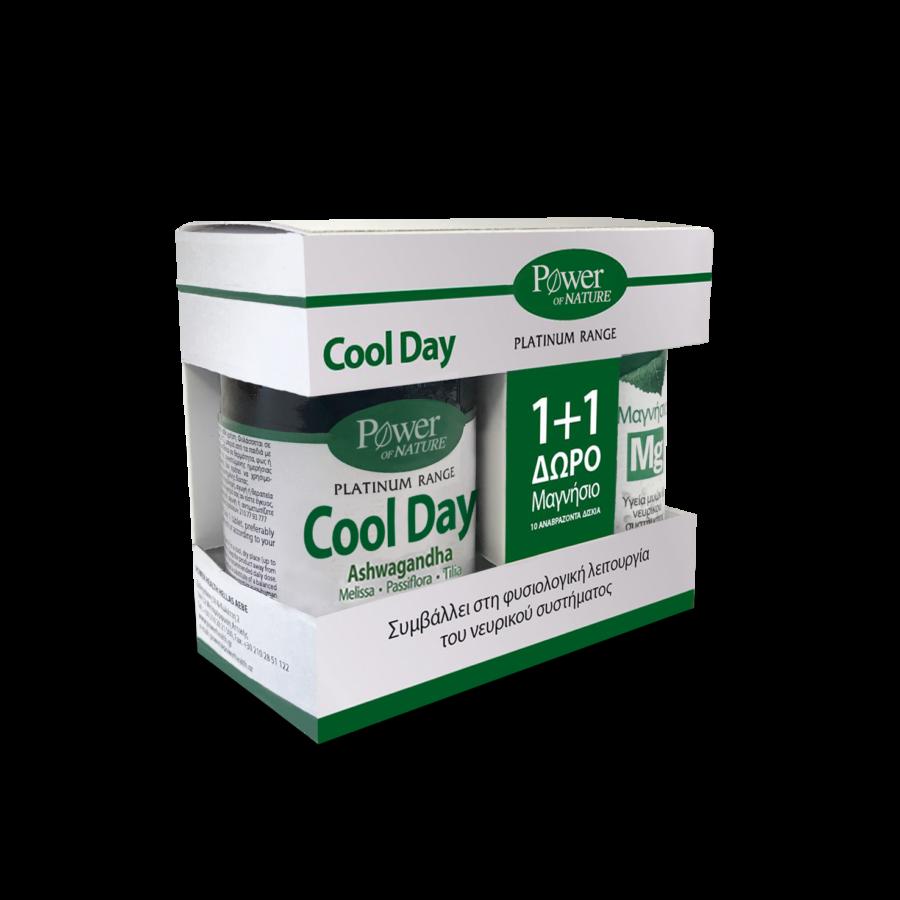 Power Health Promo Classics Platinum Cool Day L-Theanine 30Tabs & ΔΩΡΟ Μαγνήσιο 220mg 10Αναβράζοντα
