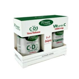 Power Of Nature Classics Platinum Range Vitamin C+D3 1000mg 30 ταμπλέτες & Vitamin C 1000mg 20 ταμπλέτες